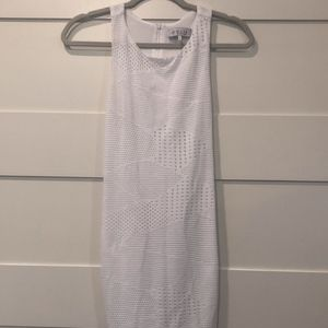 WAYF White Racerback Dress